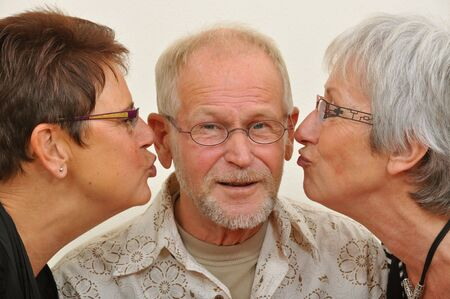 Senior man in disbelief by what�s coming to him