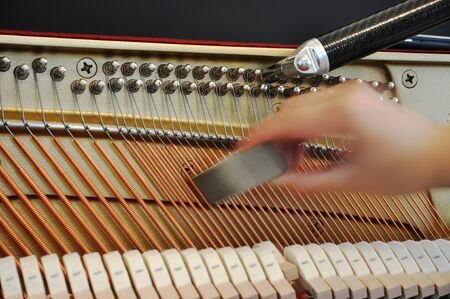 Adjusting the tone of a piano