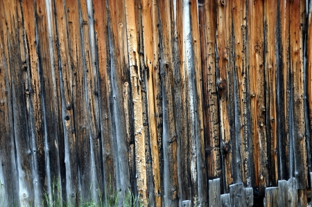 bendable: Wooden wall of shed in the mountains