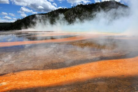 prismatic: Grand prismatic Spring in Yellowstone USA