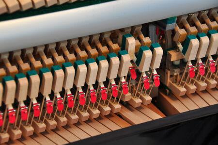 internals: Internals of a piano Stock Photo