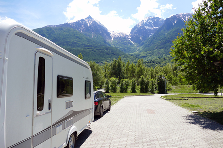 caravan: Holiday in the mountains with the caravan