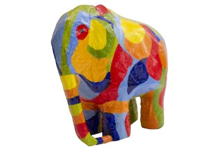 papier mache: Elefante de color