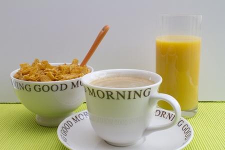 아침: 좋은 아침 영국식 아침 식사 스톡 사진