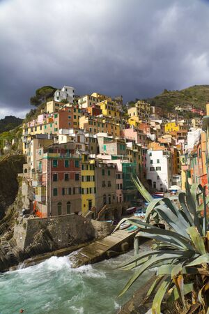 colorful village Stock Photo