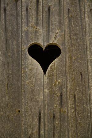 one heart in wood Reklamní fotografie