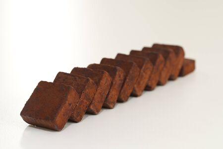 row of chocolate stone