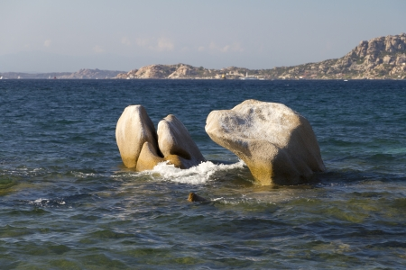 rock formations in the water Stock Photo
