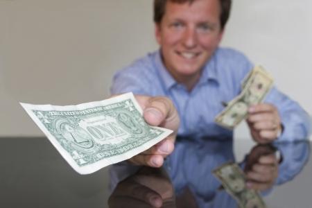 Giving One Dollar (horizontal)