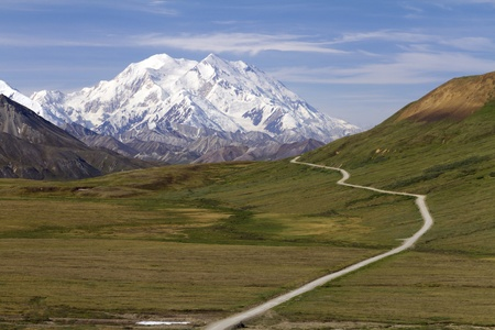 road to mount McKinley
