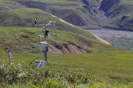 weather station in mountains