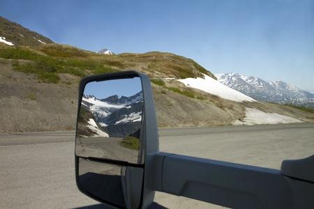 Worthington glacier from the mirror