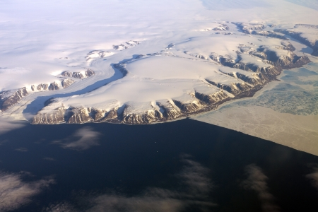 greenland from the air Stock Photo