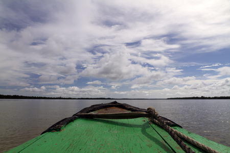 boat overlooking the river Reklamní fotografie