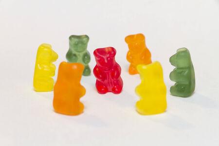 gummy bear in circle