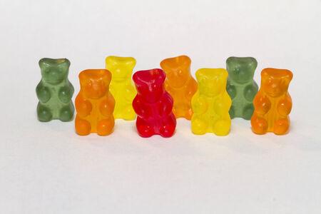 gummy bears in a row
