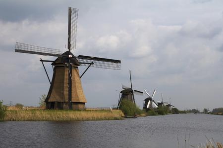 line of windmills