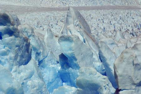 glacier ice dark blue detail
