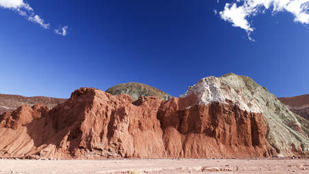 colorful rocks in Chile, Rainbow Valley Stock Photo