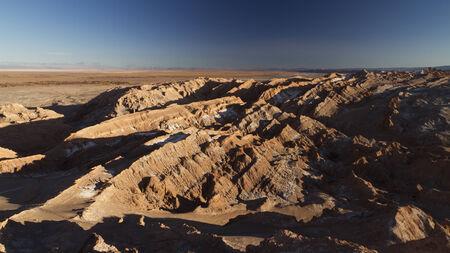 Moon Valley in the Atacama desert Stock Photo