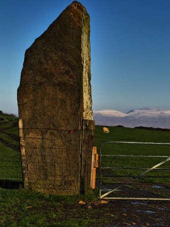 neolithic: Carreg Bica Standing Stone, near to Birchgrove, Swansea