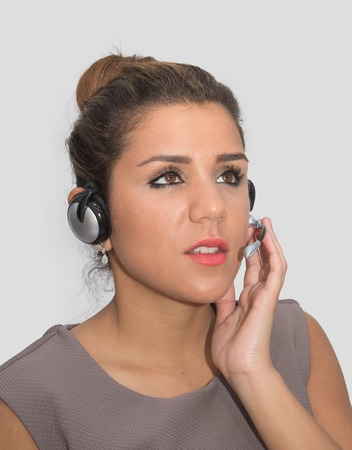 customer service representative: Attentive customer service representative speaking to a customer