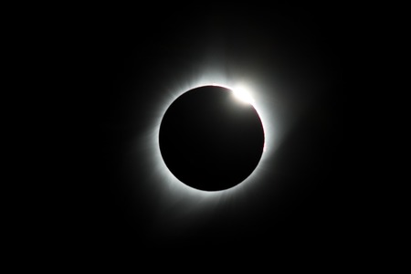 Diamond ring Total Eclipse USA 2017 Stock Photo