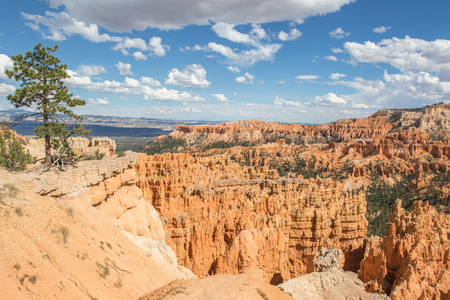 View of Sunset Point in Bryce Canyon Stock Photo
