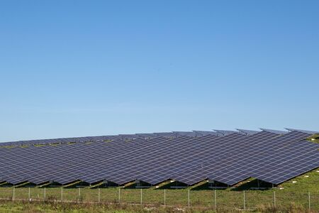 A solar farm producing green energy in The Netherlands