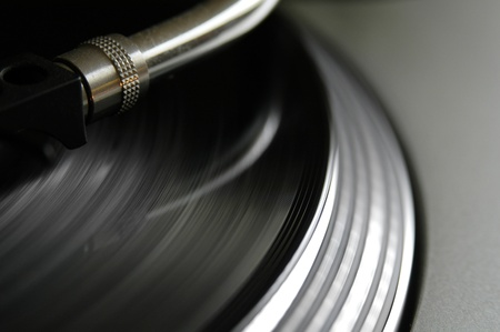 turning table: Really sharp grooves while the turntable is playing,focus on grooves