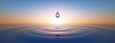 Gouttes d'eau dans le vaste océan Banque d'images