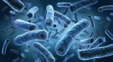 Legionellen - 3D-Darstellung von Bakterien Standard-Bild