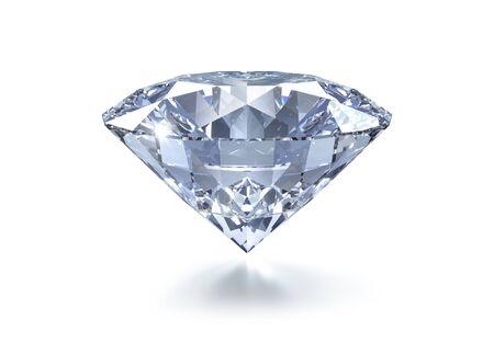 Diamond on a white background - 3D illustration Stock fotó