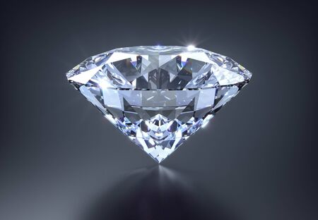 Diamond on a dark background - 3D illustration