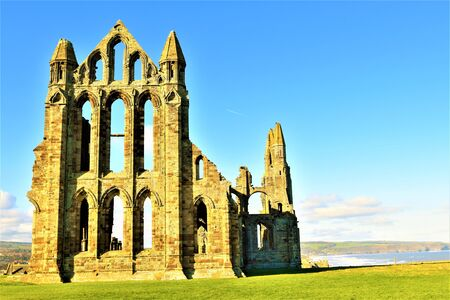 View of Whitby Abbey from the pond.