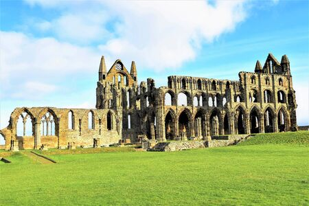 View of Whitby Abbey from inland.