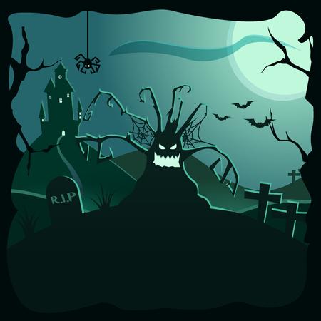 Halloween background illustration.