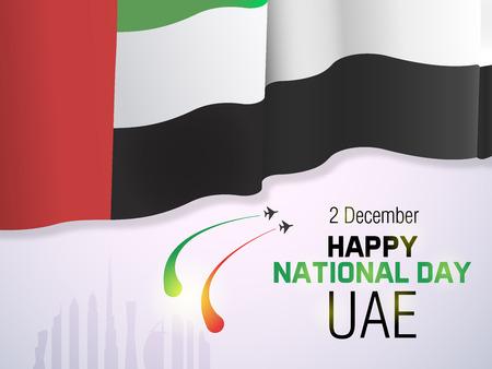 United Arab Emirates national day December the 2nd. Vector illustration of UAE event. Banner background