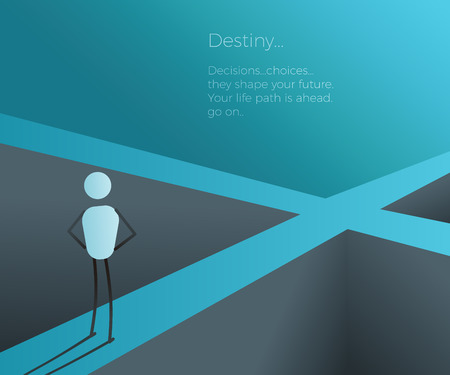 Business Vector Concept Of New Beginnings Opportunity And Adventure