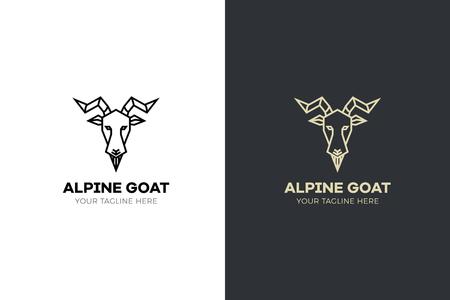 Stylized geometric Goat head illustration. Vector icon design Illustration