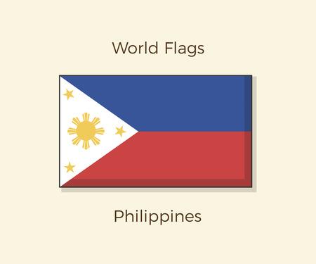 Flag of the Philippines. Vector Filipino icon design