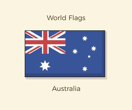 Flag of Australia. Vector Australian icon illustration design
