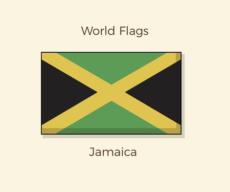 Flag of Jamaica. Vector Jamaican icon illustration design