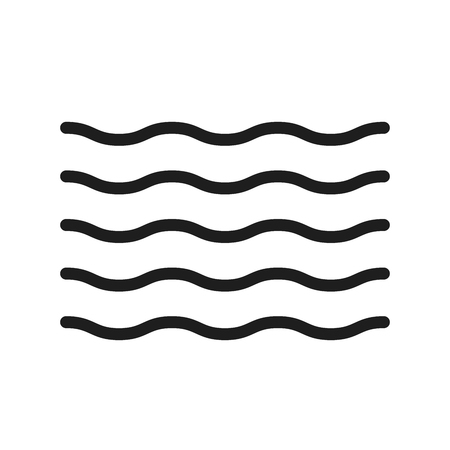 Water thin line icon. Summer waves illustration for ocean, river, sea, pool and liquids. Trendy minimal shape can be used as a icon, pattern, decoration