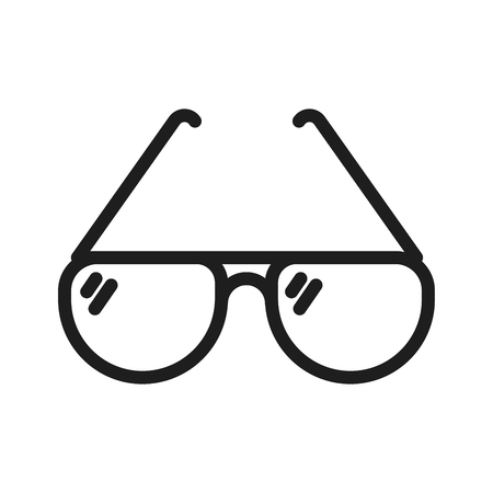 Simple sunglasses thin line icon. Vector minimal illustration. Summer elegant and fashion object