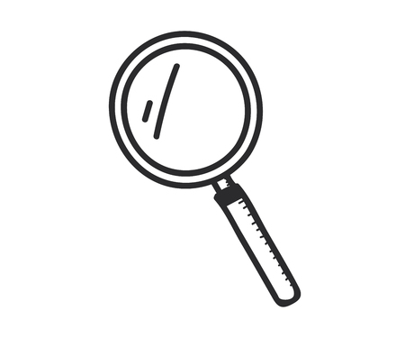 Magnifying glass icon. Vector doodle illustration 向量圖像