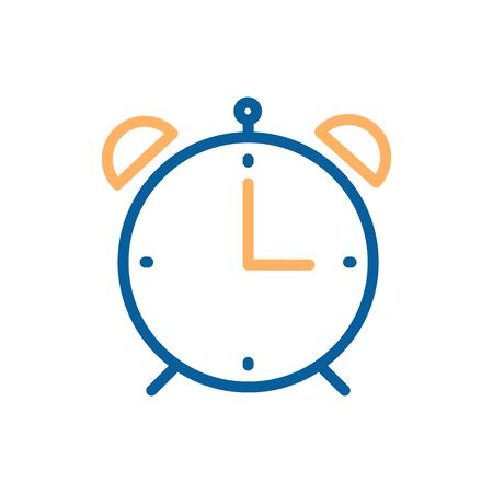 Minimal alarm clock icon. Vector illustration for time, business, education and personal life subjects