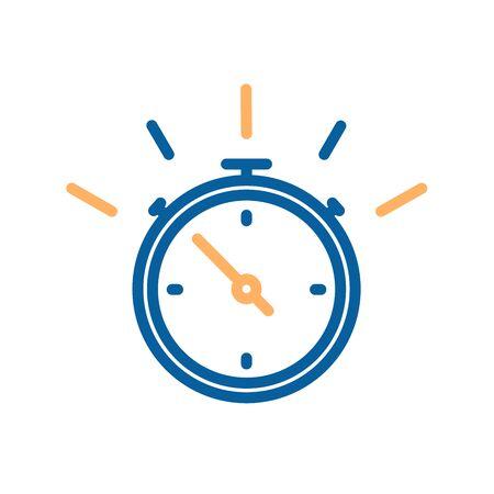 Arrêtez l'icône de fine ligne de montre. Illustration vectorielle pour les concepts de temps, livraison rapide, services express, urgence, sports, compétition