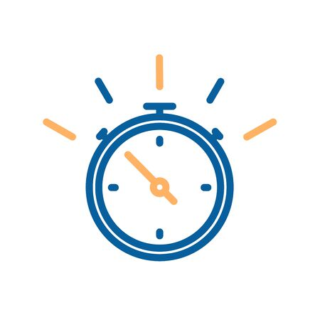 Stop watch thin line icon. Vector illustration for concepts of time, fast delivery, express services, urgency, sports, competition