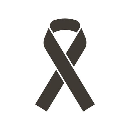 Awareness ribbon. Vector flat glyph icon illustration. Symbol for awareness of different diseases and support, raise consciousness for a cause 向量圖像